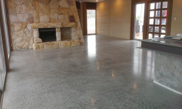 how to clean polished concrete